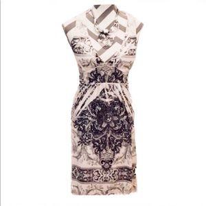 Dresses & Skirts - 🖤 Sparkly Floral Print Lace Back Halter Dress 🖤